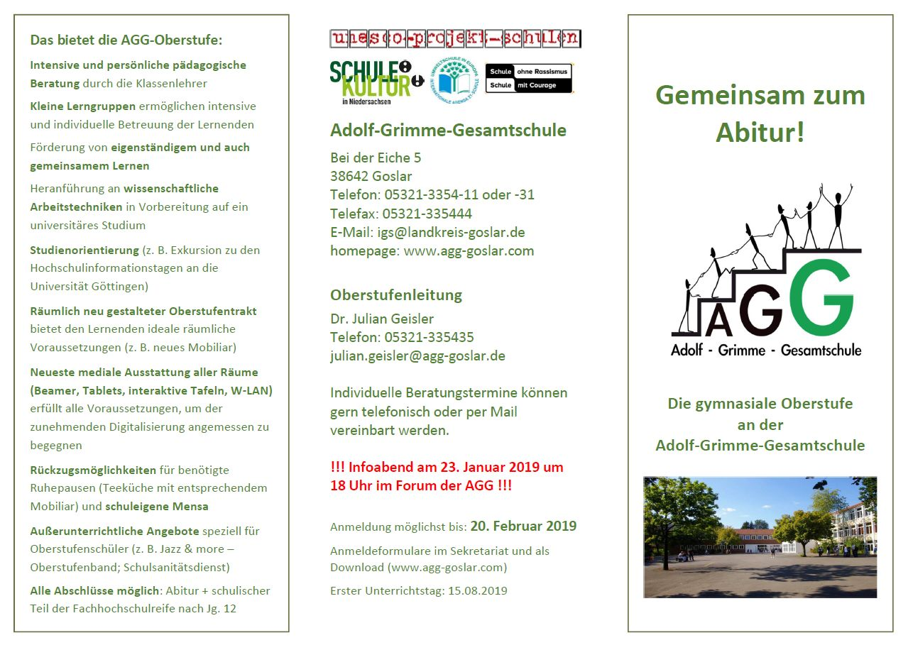 Flyer S1 Oberstufe AGG